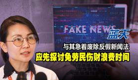 与其急着废除反假新闻法,应先探讨免劳民伤财浪费时间