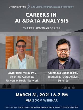 Life Science Career Development on careers in AI & Data Analytics.