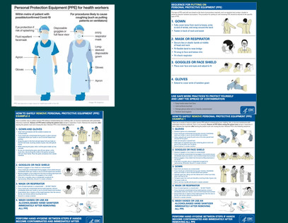 Personal Protective Equipement (PPE) for healthcare workers