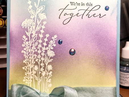 Emboss Resist with Dragonfly Garden