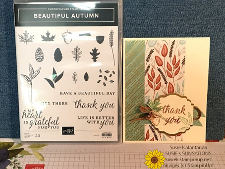 Beautiful Autumn Thank You Card
