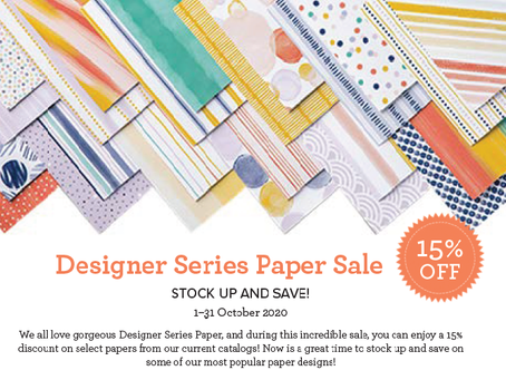 DSP Sale - 15% Off 15 Fabulous Paper Packs