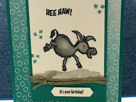 Hee Haw!  Another Darling Donkey Card