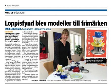 Tidningsartikel i Mitt i Söderort