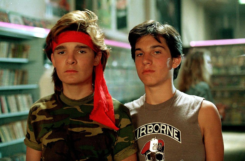 Newlander and Corey Feldman in The Lost Boys