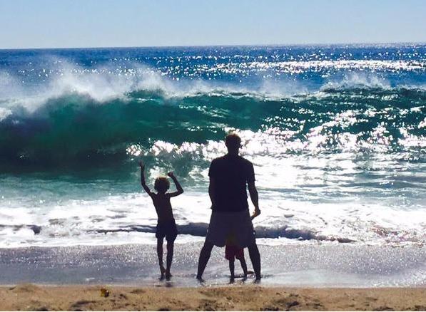 Zabka with his kids
