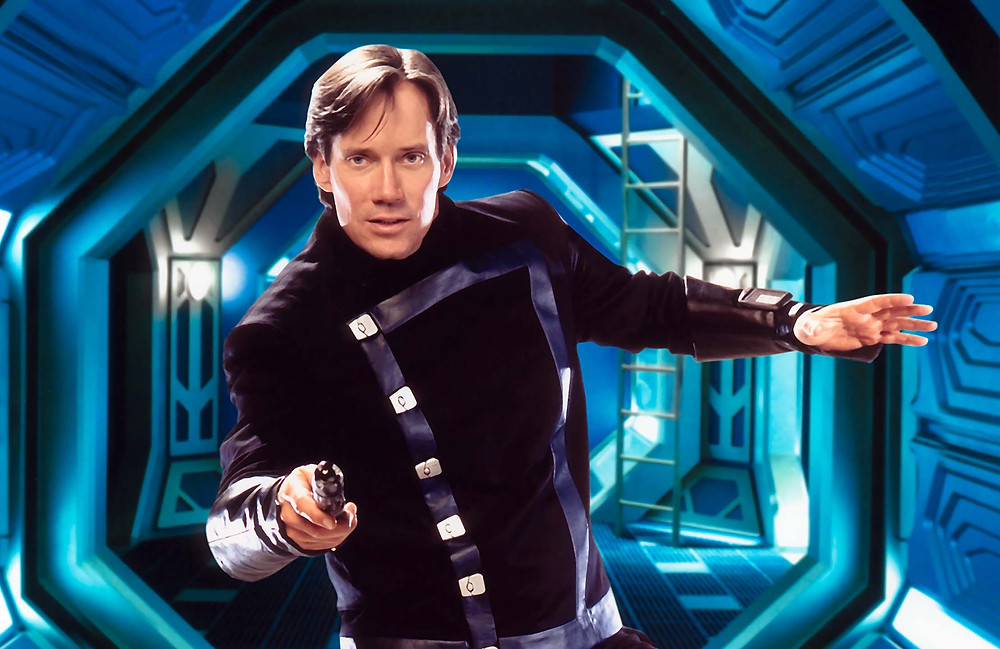 "Sorbo as Captain Dylan Hunt on ""Andromeda"""