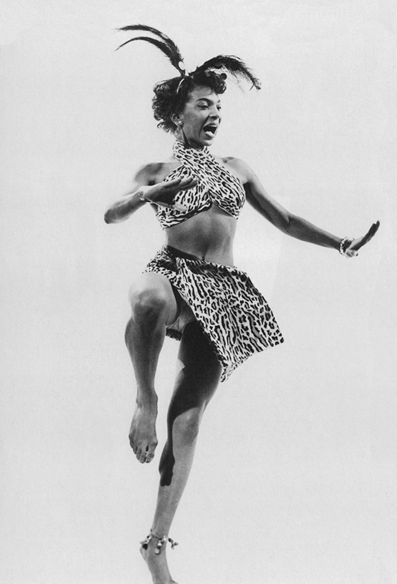 Nichelle Nichols at fifteen, appearing in 'The College Inn Story' show, portraying one of Katherine Dunham's dancers_web