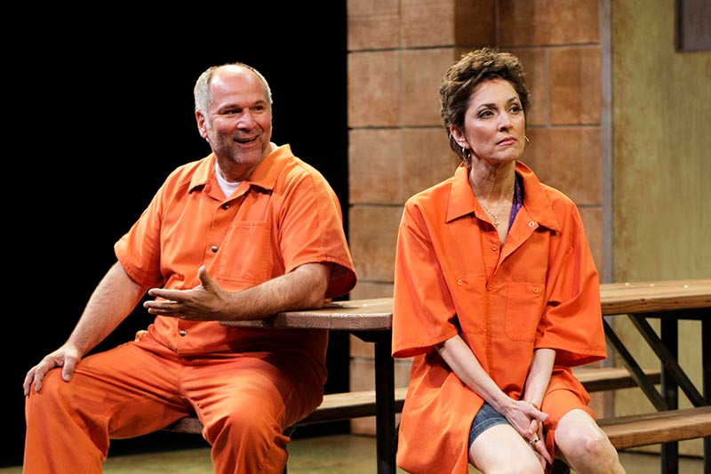 John Kapelos and Nike Doukas in South Coast Repertory's world premiere of The Prince of Atlantis by Steven Drukman. Photo by Henry DiRocco/SCR.
