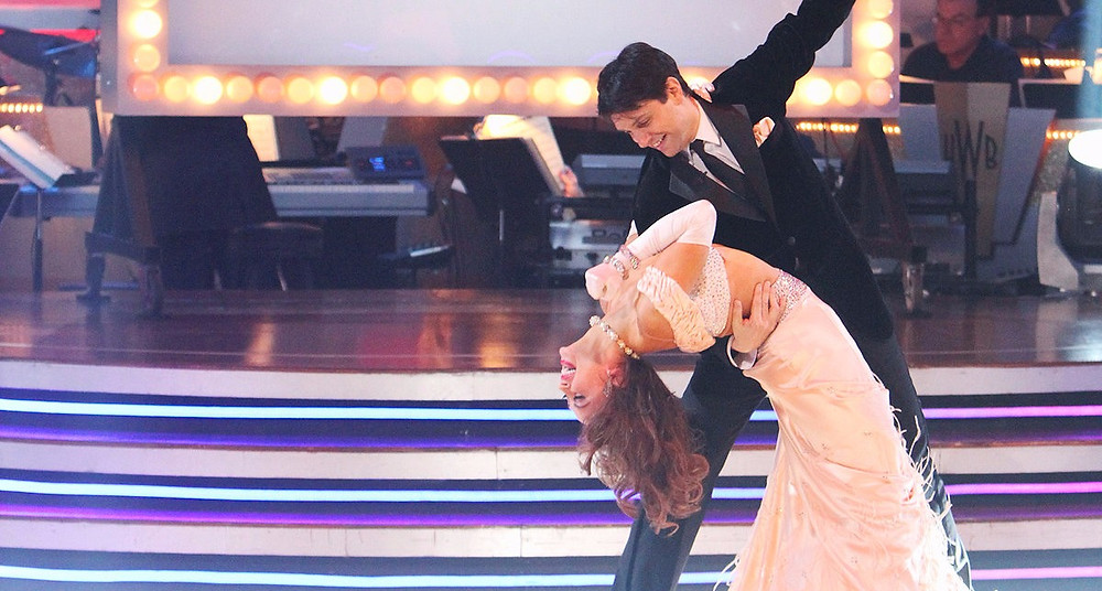 Macchio with partner Karina Smirnoff on Dancing with the Stars (2011). Courtesy of ABC.