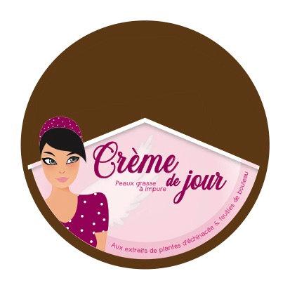 Crème de jour peau grasse à impure aux extrait de plantes d'échinacée et bouleau