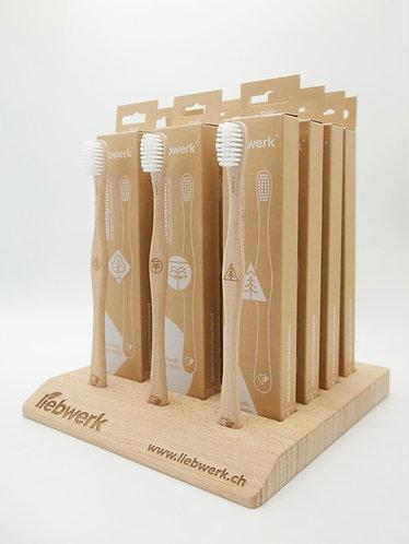 Brosse à dent en bois de hêtre suisse