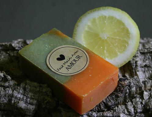 Savon au thé vert - citron Bio - pamplemousse Bio