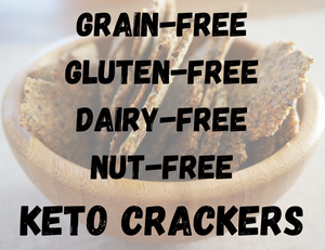 Healthy grain-free gluten-free dairy-free nut-free keto crackers