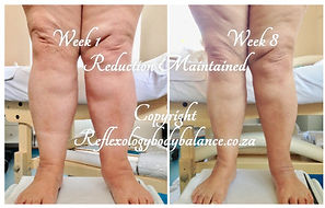 Lesley before and after 8 weeks maintain