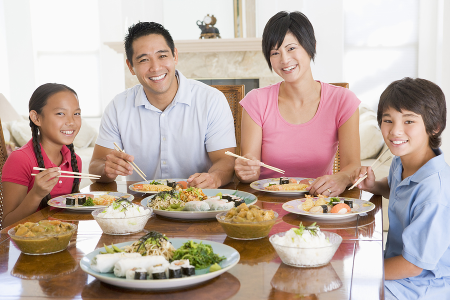 Asian Family Dinner Table Images