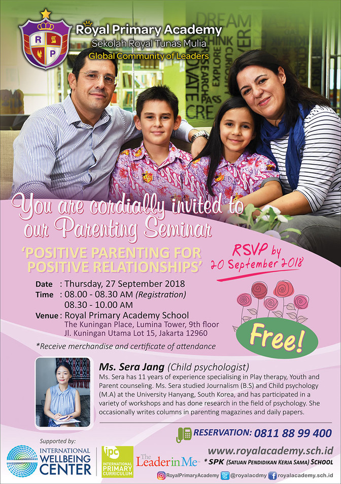 "Parenting Seminar with ""Ms Sera Jang"" (A Child Psychologist)"