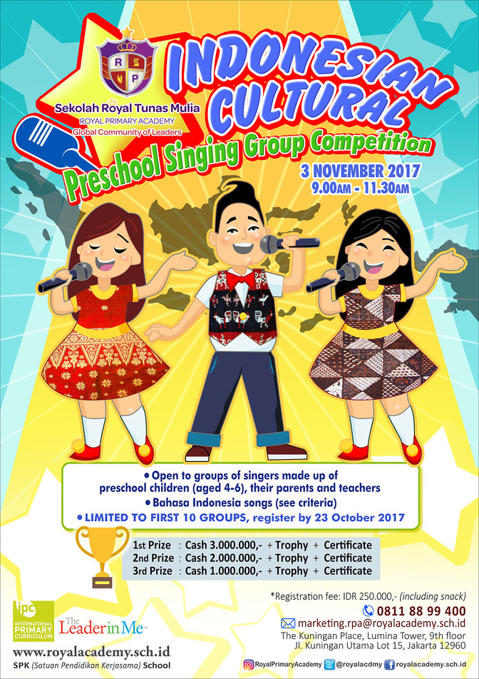 Indonesian Cultural Preschool Singing Competition