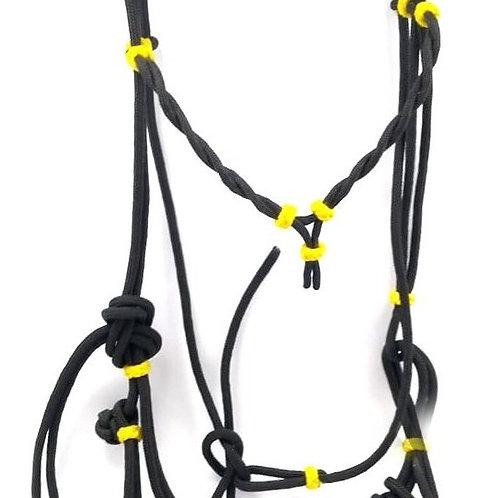 Cabeçada Corda Cavalo Cor Preta/amarela