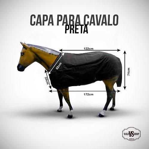 CAPA PARA CAVALO PRETA, TAMANHO M