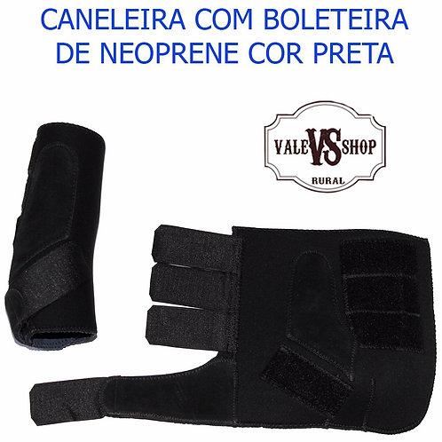 PAR DE CANELEIRAS COM BOLETEIRA PRETA