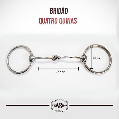 Bridão De Argola Inox, Bocal De Ferro Quadrado Com 4 Quinas!