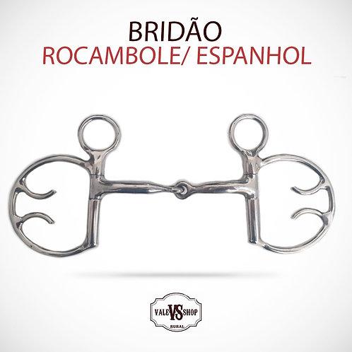 Freio Bridão Espanhol Rocambole Cavalos