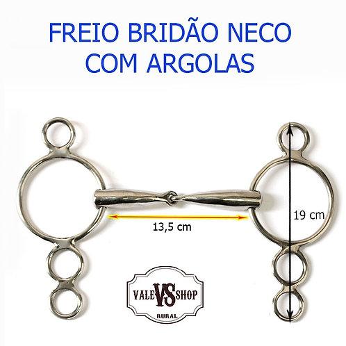 Freio Bridão Neco De Inox Com Argolas!