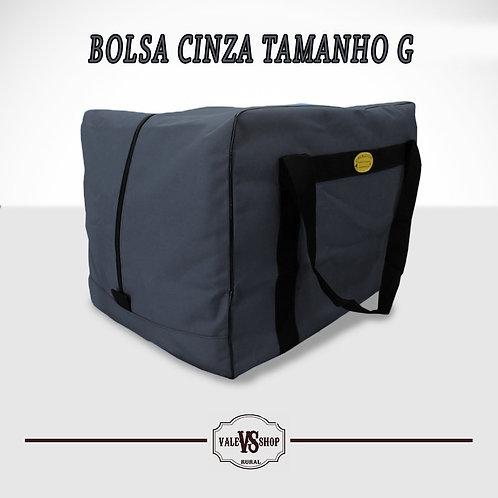 Bolsa Viagem Grande P/ Sela Cavalo Nylon Importado Cinza