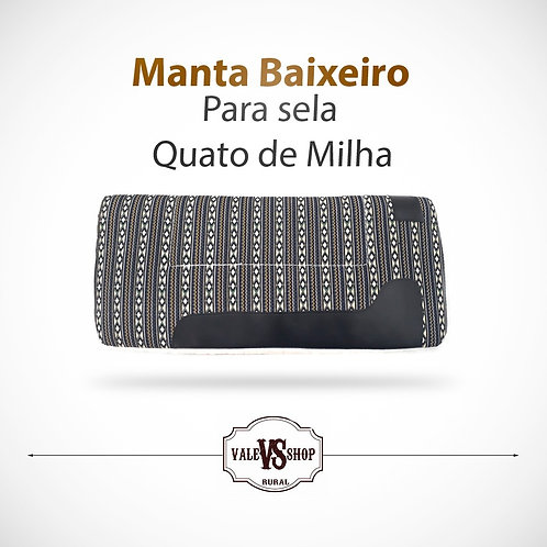MANTA, BAIXEIRO ESTAMPADOPARA SELA QUARTO DE MILHA