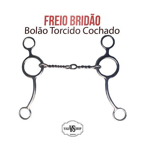 FREIO BRIDÃO LEVANTADOR BOLÃO, TORCIDO/COXADO