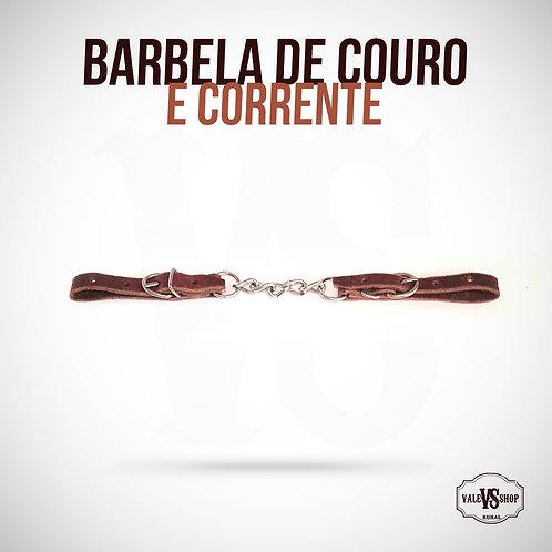 Barbela De Couro E Corrente Para Cavalo