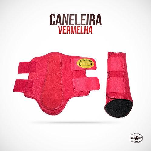 PAR DE CANELEIRAS DE NEOPRENE NA COR VERMELHA
