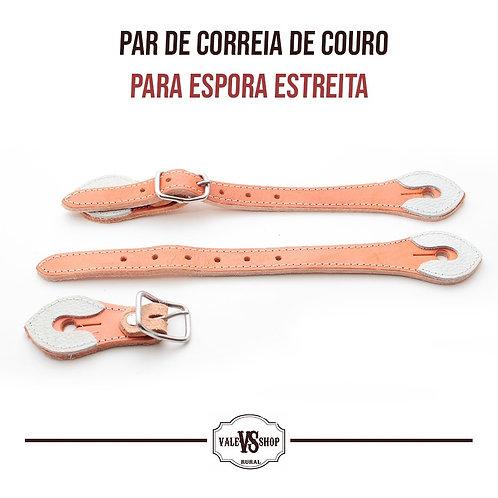 Par De Correia De Espora De Couro Estreita
