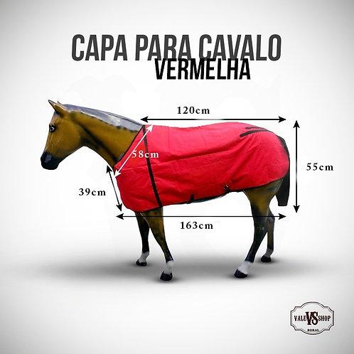 Capa Para Cavalo Vermelha, Tamanho P