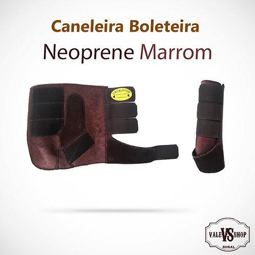 PAR DE CANELEIRAS COM BOLETEIRA MARROM
