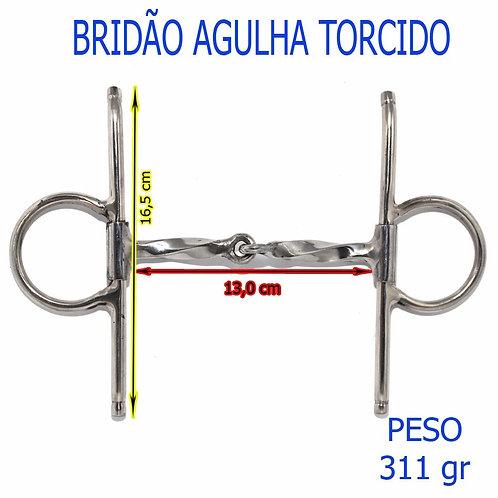 BRIDÃO AGULHA COM BOCAL DE FERRO TORCIDO QUEIMADO, E HASTES DE INOX