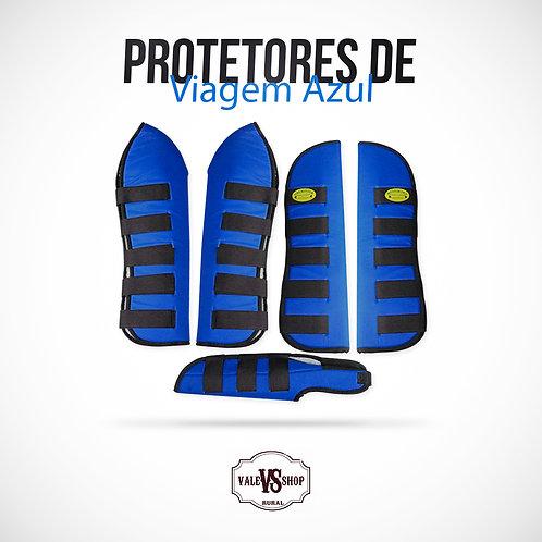 Protetores de Viagem Para Cavalo Azul