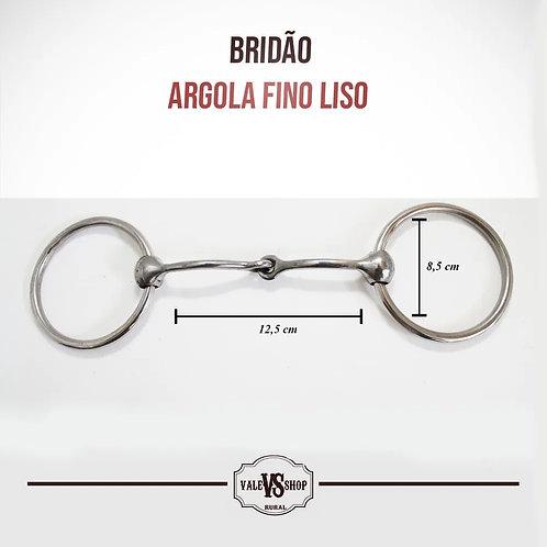 Bridão De Argola Média De Inox, Bocal Liso Fino De Ferro