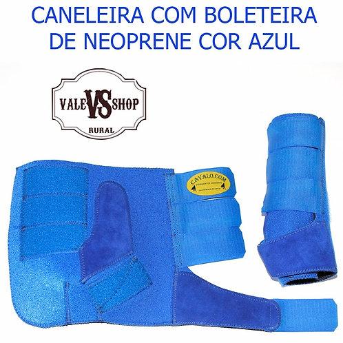 PAR DE CANELEIRAS COM BOLETEIRA AZUL