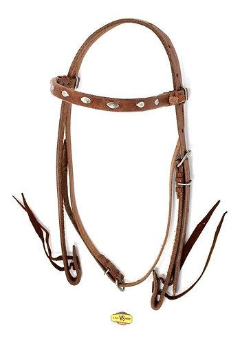 Cabeçada Para Cavalos Couro De Búfalo C/ Afogador