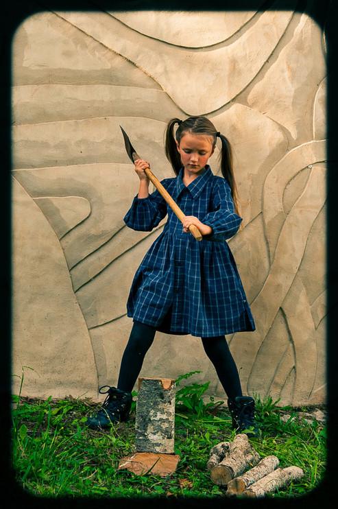 Girl chopping