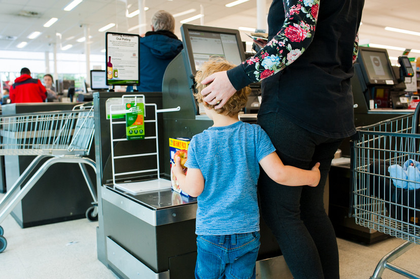 Paying for the groceries