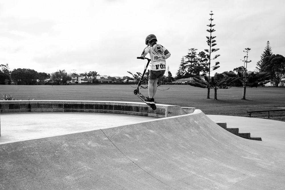 Skate park jump