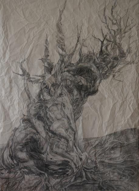 Tree of life -in black