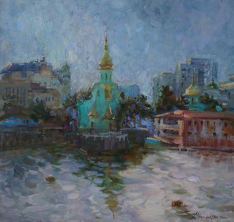 Evening. Church bells of Kiev...