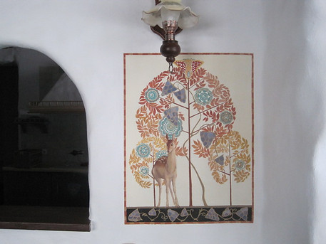 right part of artwork on wall