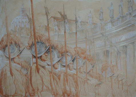 Swiss guards / drawing