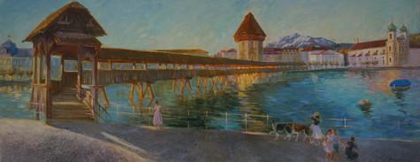 Luzern - die altbekannte Kapellbrücke.