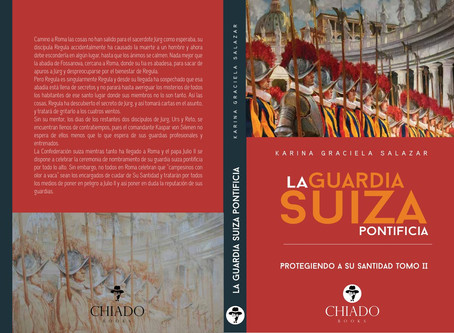 """Book cover paintings by Olena Vavourakis for book series """"La Guardia Suiza Pontificia"""" wri"""